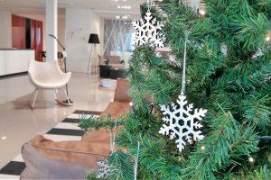 decorazioni di natale in legno albero di natale