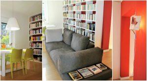 casa accogliente e confortevole libreria