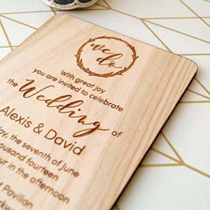 decorazioni per matrimoni inviti in legno