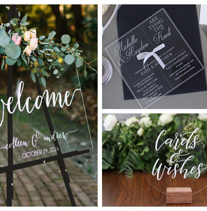 decorazioni per matrimoni trasparenti chic invernali