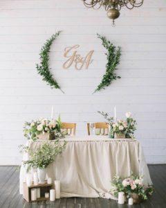 decorazioni per matrimonio tavolo sposi