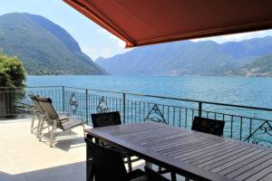 villa sul lago di lugano - terrazza - design minimalista