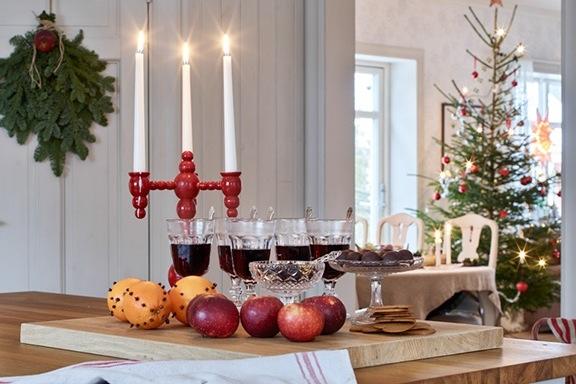 Anna Truelsen addobbi di Natale rosso