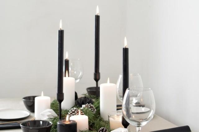 Burkatron Addobbi di Natale bianco e nero