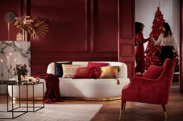HM Home addobbi di Natale rosso