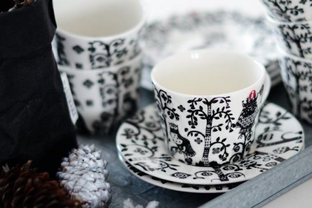 Iittala addobbi di Natale bianco e nero