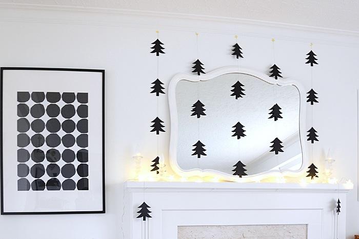 Nalles House addobbi di Natale bianco e nero