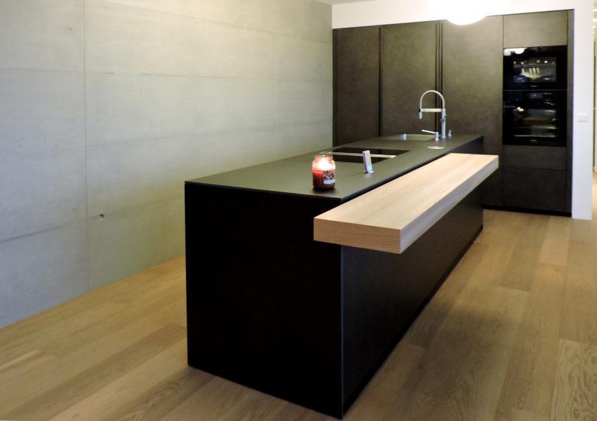 cucina minimal nera valcucine