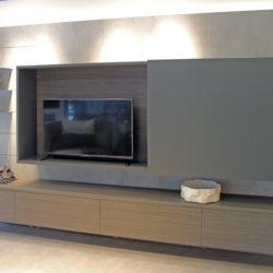 Mobili su misura: un sistema porta TV creato da Selva
